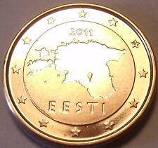 Gem Brillaint Unc Estonia 2011 1 Euro Cent~Fantastic Coin~Free Shipping