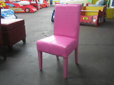 KIDS CHILDREN LEATHER SEAT (PAIR) - NEW PRODUCT - PINK
