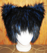 CHESHIRE KITTY CAT FUR HAT ALICE WONDERLAND ANIME COSPLAY CYBER EDM FESTIVAL WIG