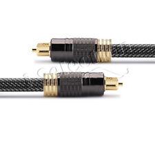 Premium Toslink Optical Fibre Cable Gold Plated Digital Audio S/PDIF 0.5m ~ 30m