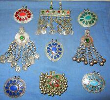 Wholesale Lot10 Nine Pendants Vintage Afghan Kuchi Tribal Alpaca Silver