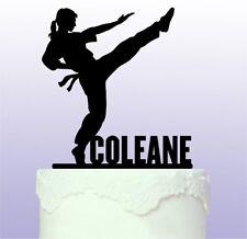 Personalised Female Karate - Martial Arts Cake Topper