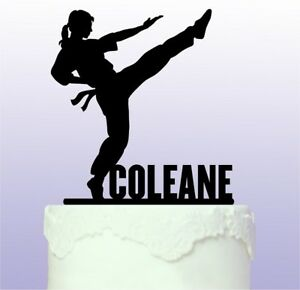 Personalised Female Karate - Martial Arts Acrylic Cake Topper
