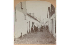 VINTAGE STEREOVIEW OF LOCALS/PEOPLE ON KELLY STREET, CORK, IRELAND