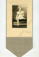 Vintage Studio Photo-Sterling Colorado-Little Girl Sitting on Bench-YOUNG Family
