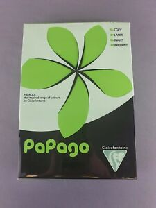Papago - Intensive Green - A4 Coloured Paper - 80gsm - 500 Sheets - New Free P&P