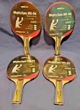 New listing Four MightySpin MS-04, 7-Ply Ping Pong Table Tennis Paddle Beginner to Advanced