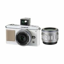Excellent! Olympus E-P1 12.3MP with 14-42mm + 17mm White - 1 year warranty