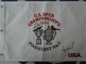 Michelle Wie autographed signed 2014 US Women's Open embroidered golf flag LPGA