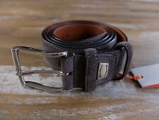 SANTONI gray suede belt authentic - Size 100 (fits size 38 waist best) - NWT