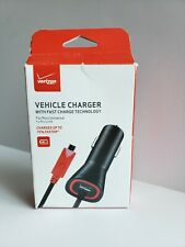 Verizon OEM Fast Car Charger Quick Charge Vehicle Power Adapter Micro USB Cable
