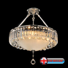 Aglow INT®Modern Round 4 Light Ceiling Pendant Chandelier K9 Crystal,Clear