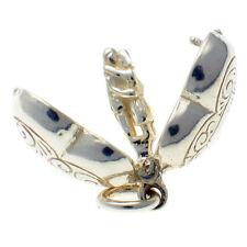 Corazón de plata esterlina 925 encanto se abre los amantes abrazar