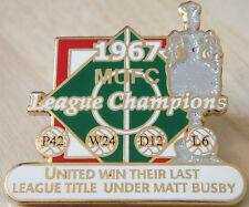 MANCHESTER UNITED Victory Pins 1967 LEAGUE CHAMPIONS Badge Danbury Mint