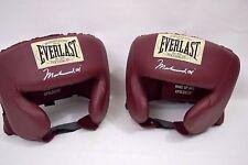 New! Qty.2 Everlast Muhammad Ali Signature Boxing Head Gear Maroon 31350