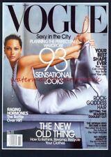 Christy Turlington en octubre de 2002 Vogue montado en portada de la revista impresa. Free UK Post.