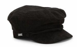 BETMAR New York LIEUTENANT CAP Hat NEWSBOY $39 Women's BLACK B1873H NEW