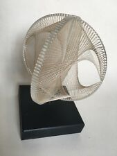 Retro 70's Ronald Fox Signed Lucite Acrylic String Sculpture Orb Spaceage