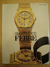PUBBLICITA' ADVERTISING WERBUNG 1985 OROLOGIO GIANFRANCO FERRE' (AC10)