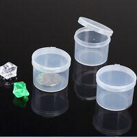 5 Stück Runde Kunststoff klare Sammlung Container Case Aufbewahrungsbox R