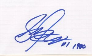 Steve Janaszak - Miracle on Ice, U.S. Olympic Hockey Team - Signed 3x5 Card