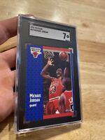 Michael Jordan SGC 7 Fleer 1991 #29 Card Collector Chicago FIGHT INFLATION NR