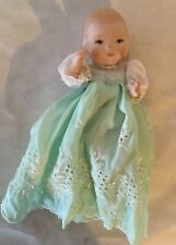 Vintage Bye-Lo Reproduction Baby Doll All Bisque Artist Signed, 1979 5�