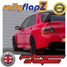Mitsubishi Lancer Evolution 7-9 Mud Flaps & Fixings Qty4 Black Ralliart Logo Red