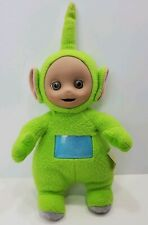 """Hasbro Teletubbies Green Dipsy Plush Toy 13"""" Tall Pre-Owned Fair Condition"""