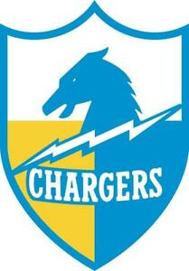 Los Angeles Chargers LA Decal ~ Retro Car Vinyl Sticker - Wall Graphics Any Size