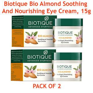 2 X 15gm Biotique Bio Ayurveda Almond Soothing And Nourishing Eye Cream FREESHIP