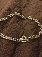 Tiffany RARE Vintage Valentines Heart ~Arrow Toggle Sterling Silver Necklace