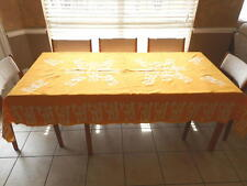 Handmade Authentic African Batik Cotton Tablecloth From Senegal w/ 8 Hand Towels