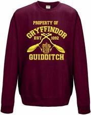 Gryffindor Quidditch Team Harry Potter  College Sweatshirt Jumper Adults Unisex