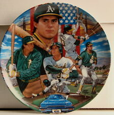 """JOSE CANSECO Oakland A's 1988 Sports Impressions 10 1/4"""" Plate New In Box 10,000"""