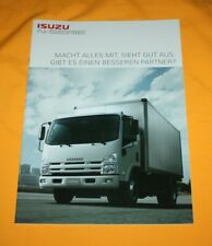 Isuzu N-Serie 2011 Prospekt Brochure Prospetto Catalog Folder Prospect