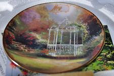 Thomas Kinkade Simpler Times - May - Lilac Gazebo - Plate #1603B