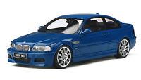 BMW M3 E46 LUGUNA SECA BLUE 1:18 SCALE OTTO MODEL GREAT COLLECTORS PIECE OT880