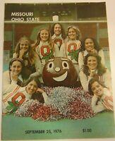 Vtg 1976 Missouri Tigers Ohio State Buckeyes NCAA Football Program Woody Hayes