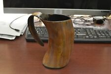 Burnt Brown Buffalo Horn Game Of Throne Medieval Drinking Ale Cup Mug 7""