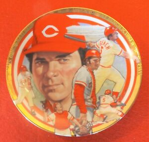 "JOHNNY BENCH 1992 Hamilton Collection 6.5"" NIB #d Plate #2724A - Reds"