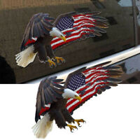 Bald Eagle USA American Flag Sticker Auto Car Truck Laptop Window Bumper Decal