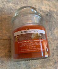 Luminessence Pumpkin Pie Orange/Brown Short Jar Candle 3oz Small
