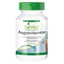 Augenvitamine 60 Tabletten, komplettes Multivitamin + Augenvitalstoffe fairvital