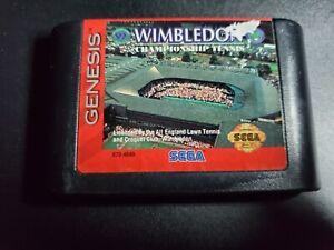 Wimbledon Championship Tennis Sega Genesis EX condition authentic game cartridge