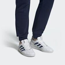 Adidas Sobakov Leather Soccer Sneaker Trainer White Navy Blue EE5642 Futbol