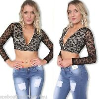 sale forever hot BLACK CROSSOVER  BUSTIER LACE CROP TOP 6 8 10 12 S M L new