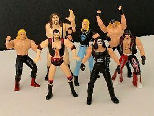 "Lot of 6 Steel Slammer 3"" Die Cast Wrestling Action Figure WCW NWO 1998 Toy Biz"