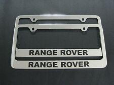 2 Range Rover Metal Chrome License Plate Frame