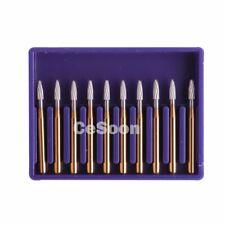 10 Pcs Dental Carbide Tungsten Burs Mani Burr Drills Fg7803 High Speed Handpiece